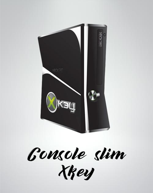 achat Console  XBOX 360 SLIM avec XKEY