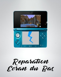 Reparation ecran lcd du bas console nintendo ds